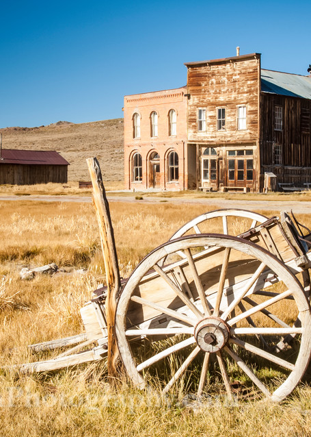 """Old Wagon in Bodie"" print 