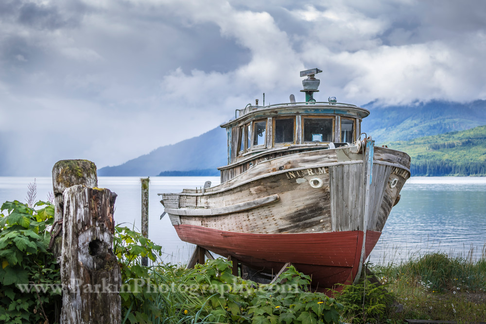 Abandoned Fishing Boat print, Jim Parkin Fine Art Photography