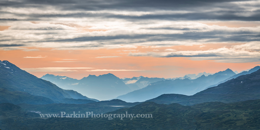 Mountain Sunset print, Jim Parkin Fine Art Photography