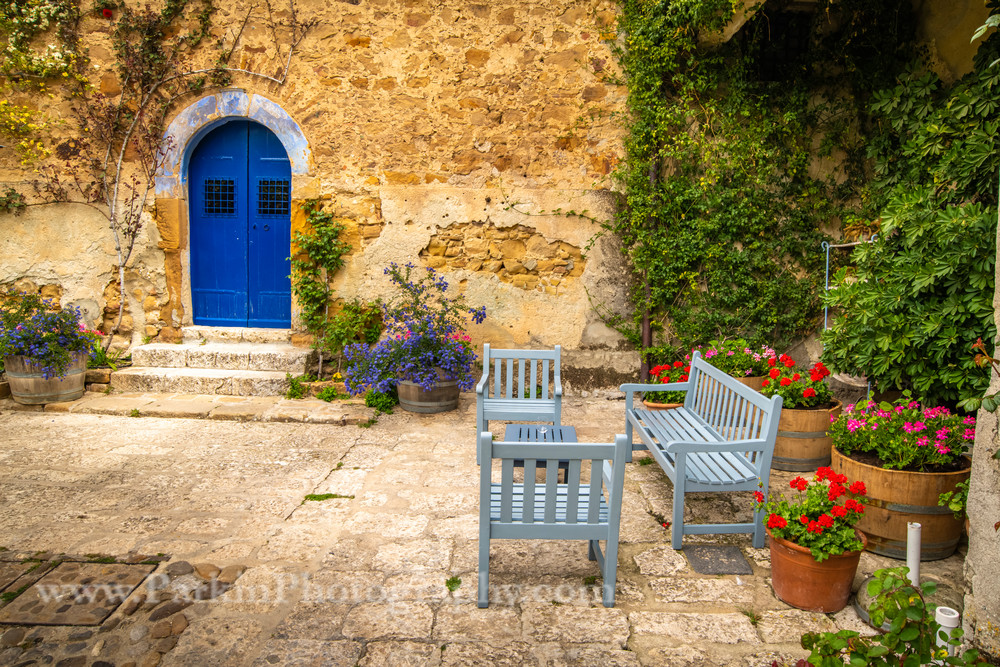 Courtyard Benches | Jim Parkin Fine Art Photograhy