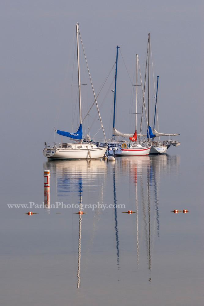 Foggy Morning Sailboats | Jim Parkin Fine Art Photography