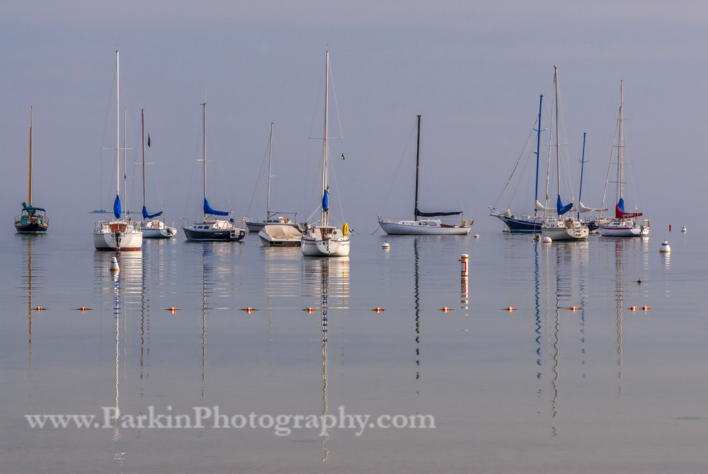 Foggy Harbor at Sunrise | Jim Parkin Fine Art Phtography