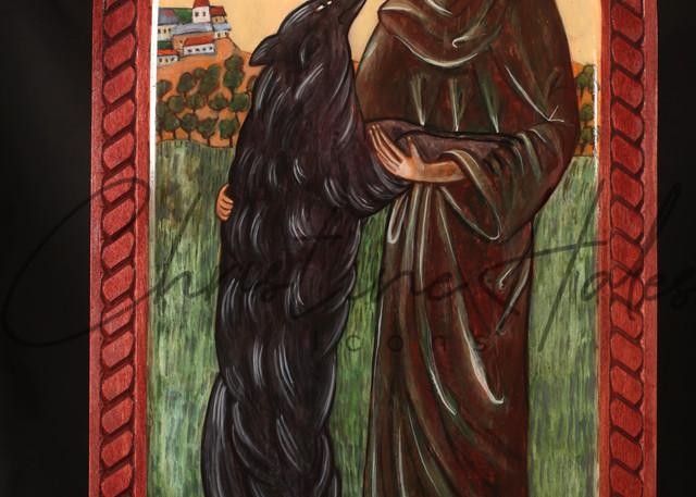 Saint Francis And The Wolf  Art   Hales Art LLC