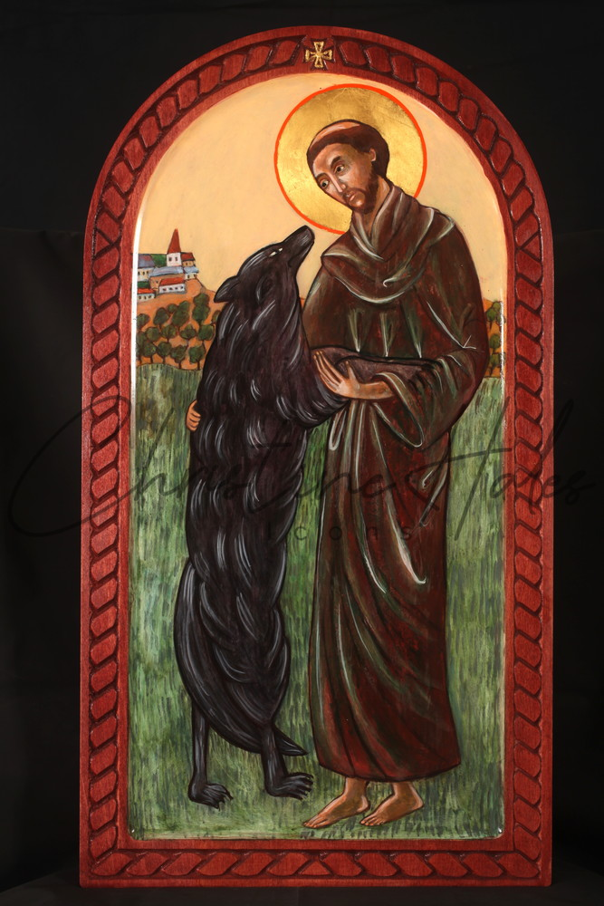 Saint Francis And The Wolf  Art | Hales Art