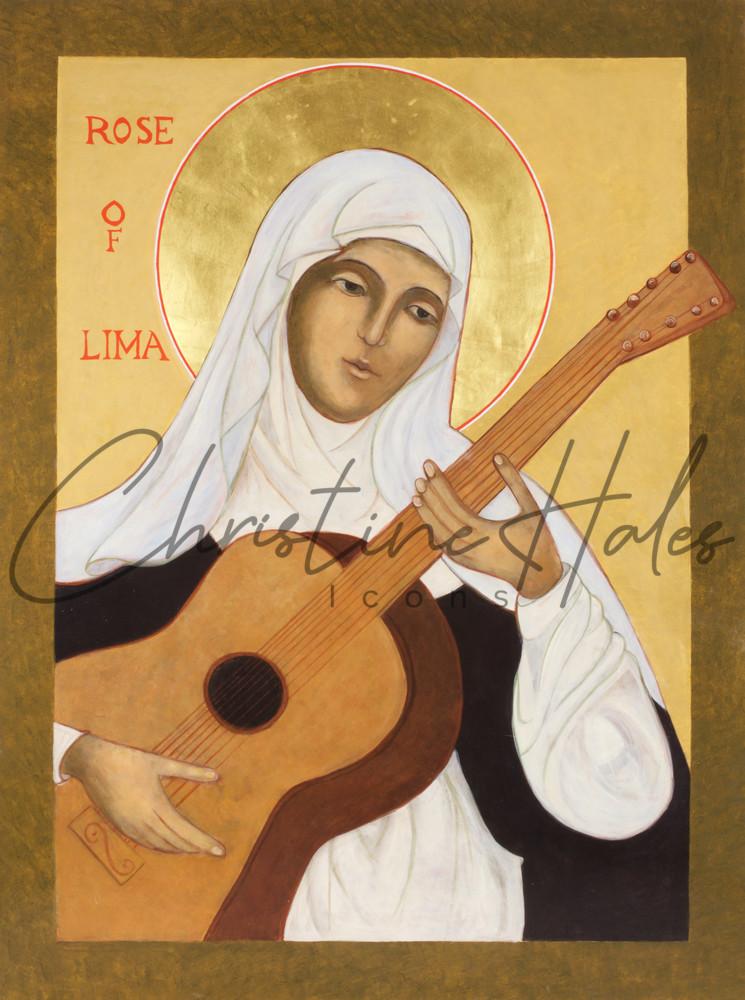 Saint Rose Of Lima Icon Art   Hales Art