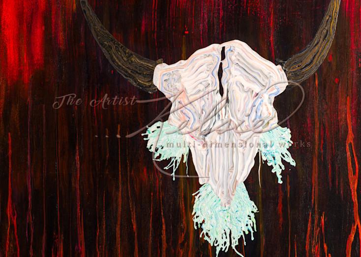 Buffalo Skull with spirit 2018