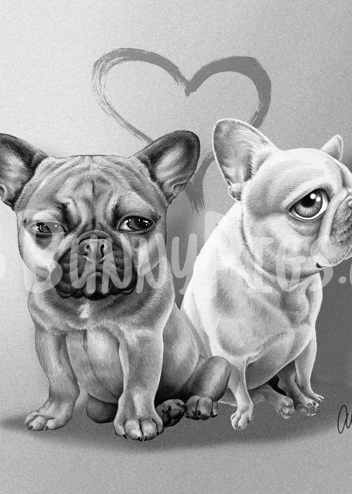 Coco & Elvis Art   BunnyPigs