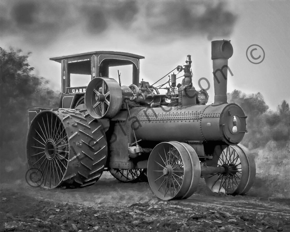JL Case Restored Vintage 110hp Steam Powered Tractor fleblanc