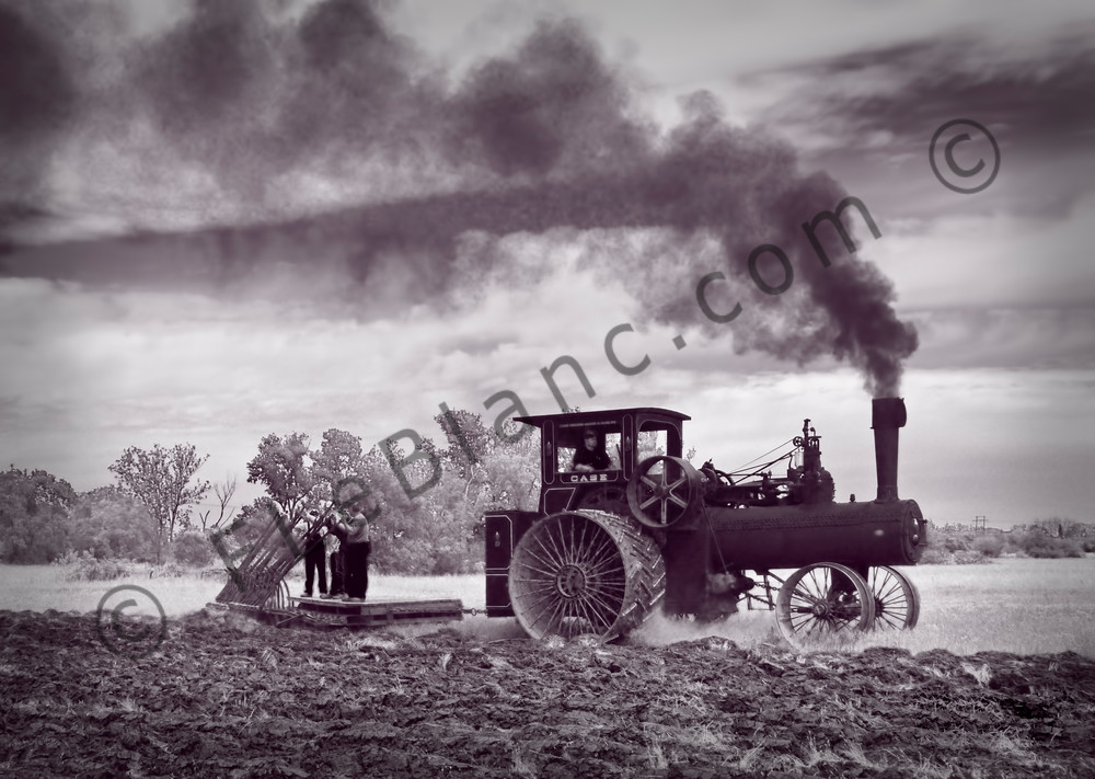 110hp Case Steam Tractor Plowing| 6 Bottom Plow fleblanc