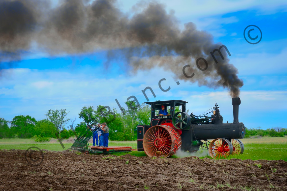 Case Steam Tractor Plowing|Wall Decor fleblanc