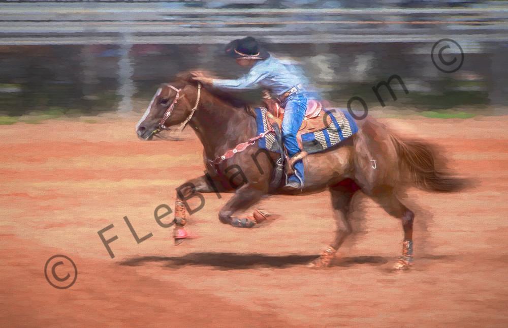 Rodeo Barrel Racing Competition Decor|Wall Decor fleblanc