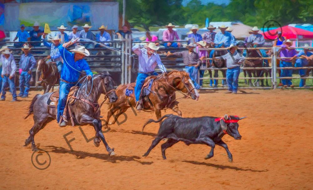 Rodeo Team Roping Western Cowboy|Wall Decor fleblanc