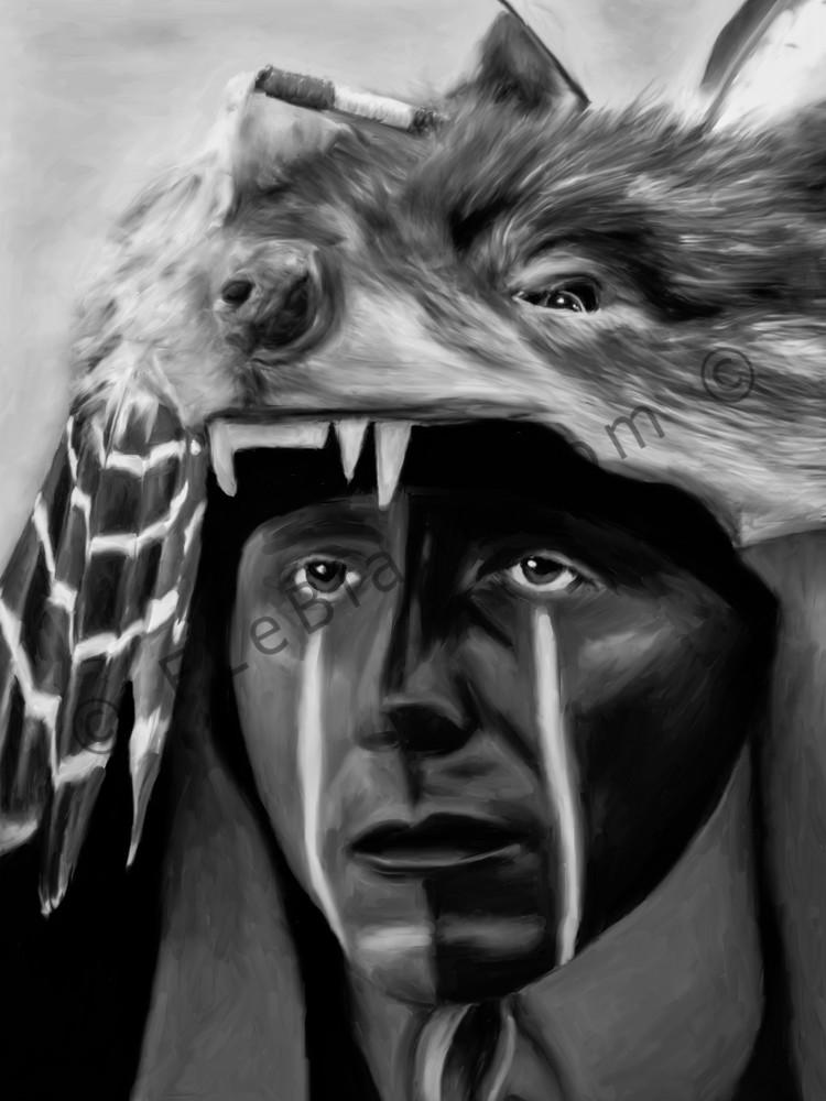 Pow Wow Regalia Western Wolf Art Photograph print