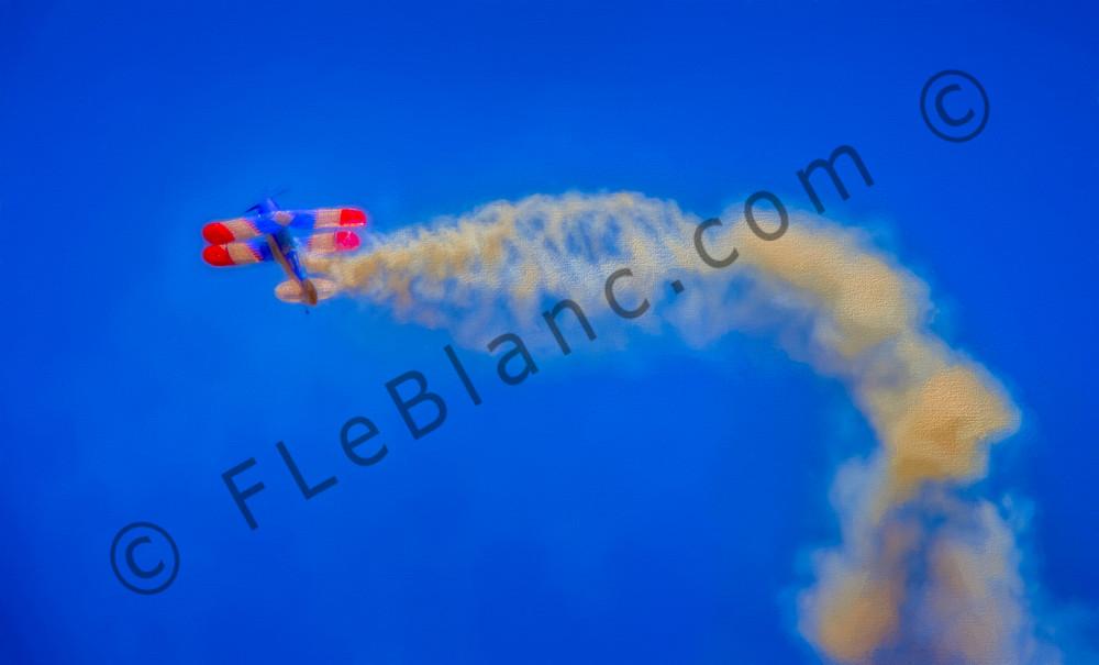 War-bird Aircraft Biplane Demo Airshow Precision Stunt fleblanc