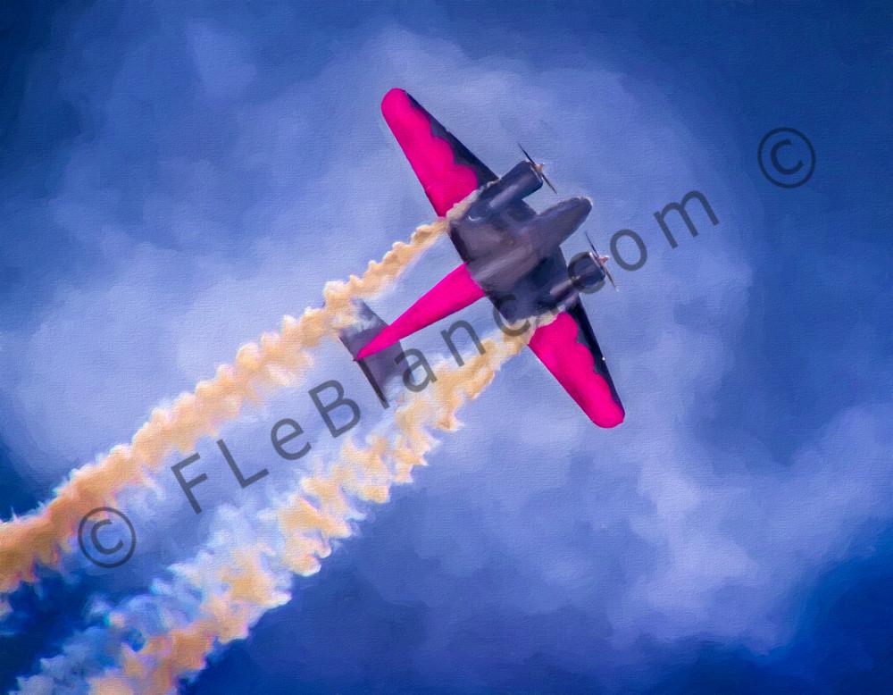 Aerobatics Smoke Air War C-45 Expeditor Precision Stunt fleblanc