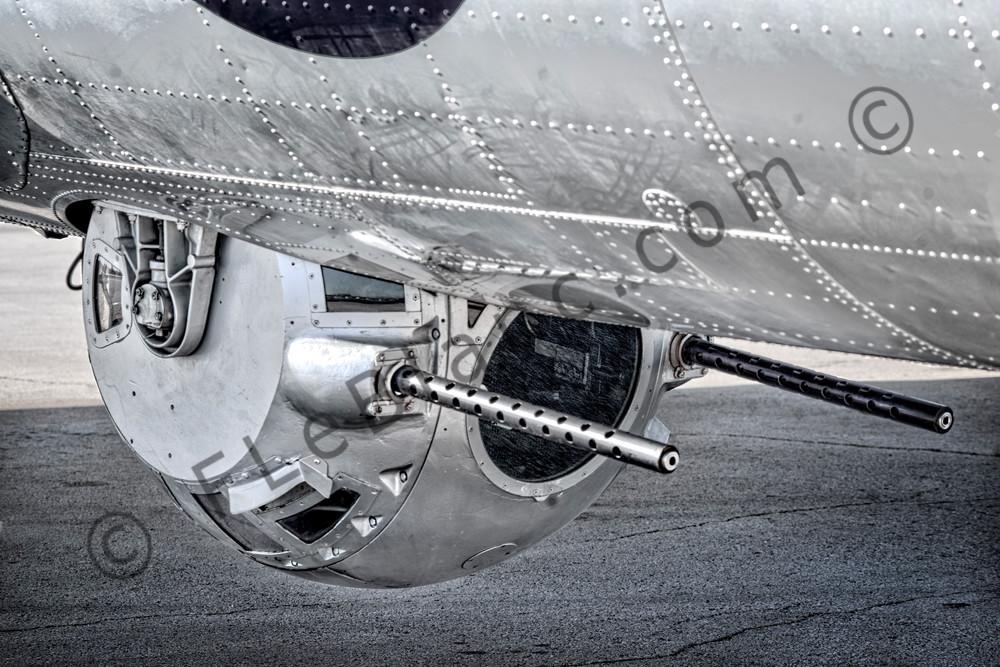 B-17 Ball Gun Turret Flying Fortress WW2 Aircraft Restored fleblanc