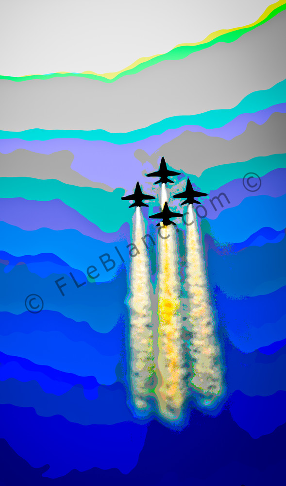 Blue Angels Abstract Air Force Aircraft Precision Stunt fleblanc
