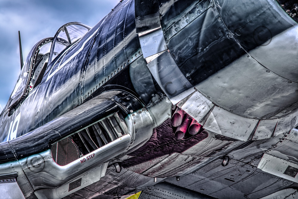 Chance Vought F4U Corsair Wing Closeup Restored fleblanc