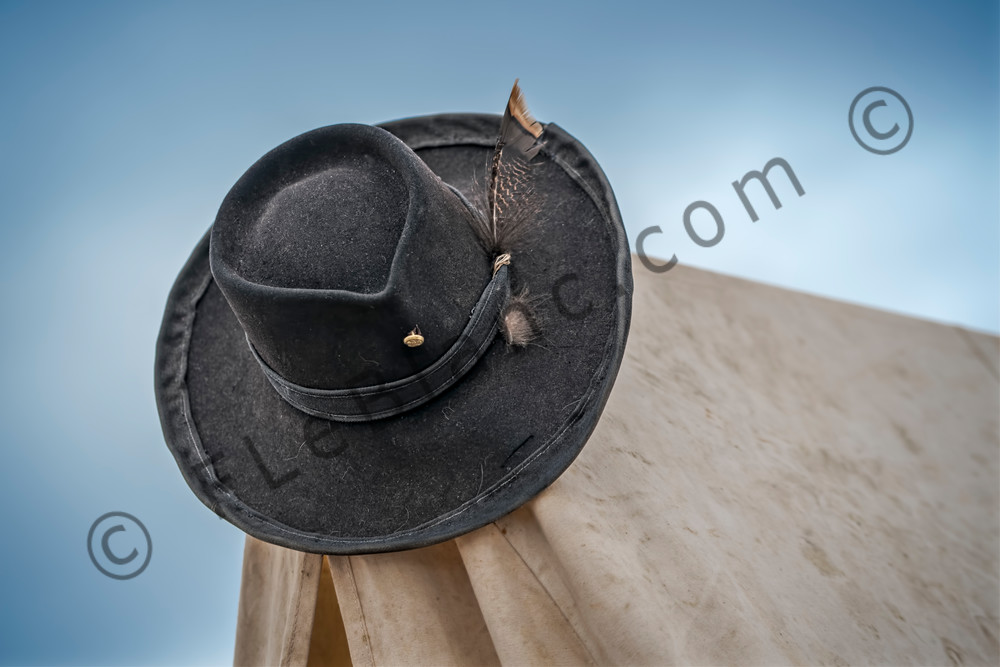 Civil War Re-enactors Officers Hat Macro Realistic Historic fleblanc