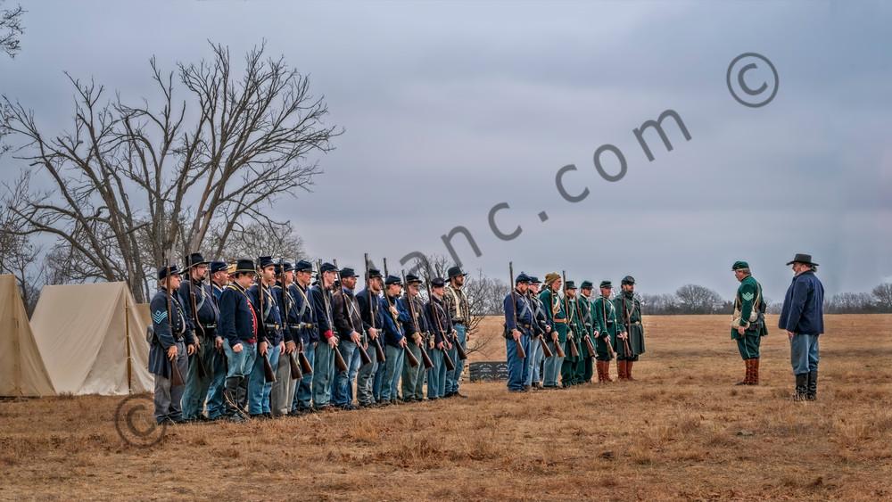 Civil War Formation Re-enactment Color Realistic Historic fleblanc