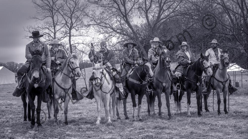 Civil War Cavalry Black & White Riders Realistic Historic fleblanc