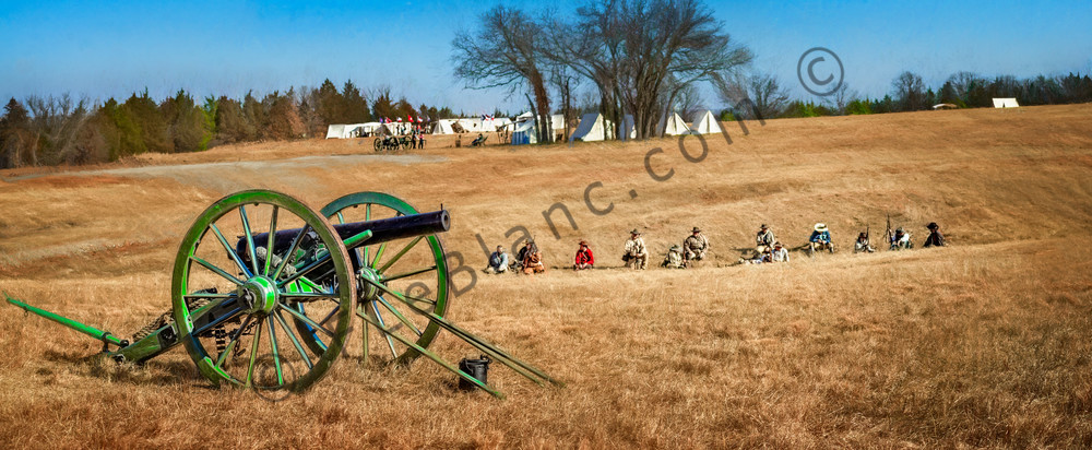 Civil War Canon Ready Field Panoramic Realistic Historic fleblanc