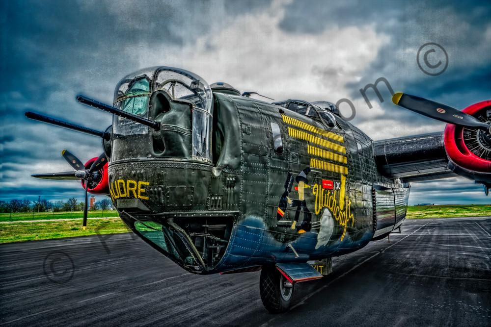 B-24 WW2 War Bomber Witchcraft combat USAF fleblanc