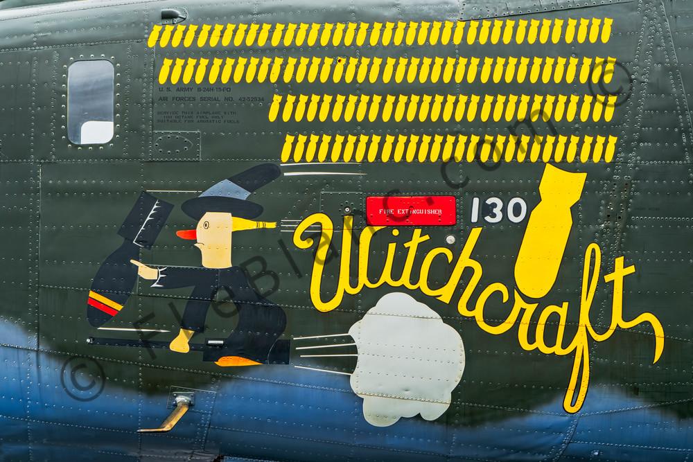 B-24 WW2 War Bomber Witchcraft combat Restored fleblanc