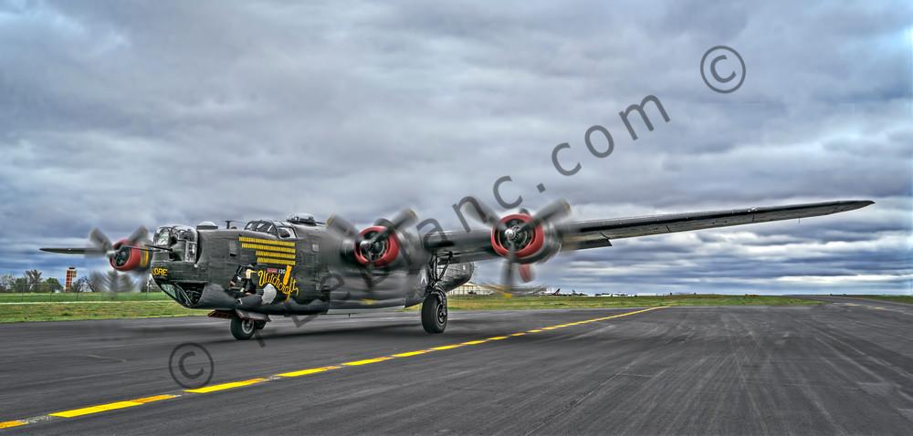 B-24 WW2 Air Liberator Witchcraft Warplane classic fleblanc