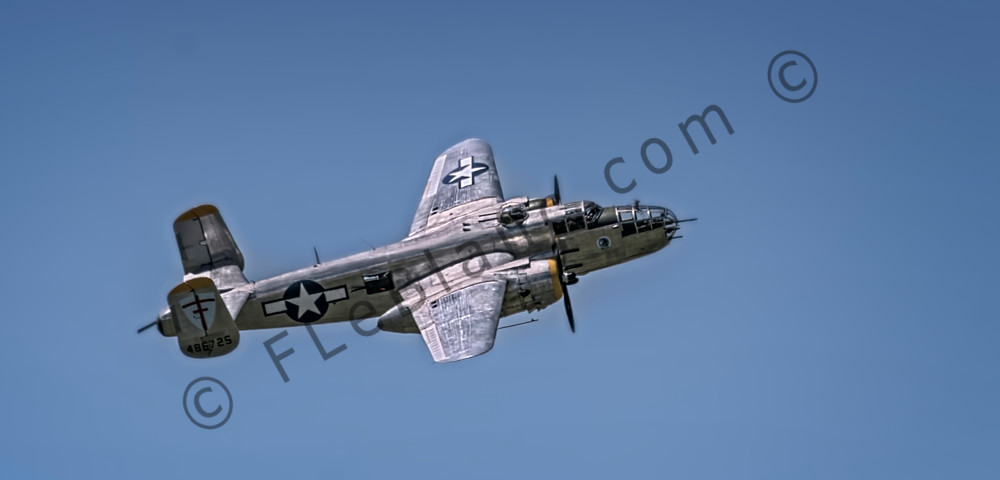 Vintage B-25 Mitchell Super Rabbit In The Air Restored fleblanc
