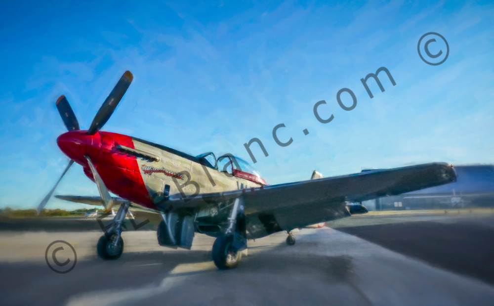 North American Aviation P-51 p51 Mustang Restored fleblanc
