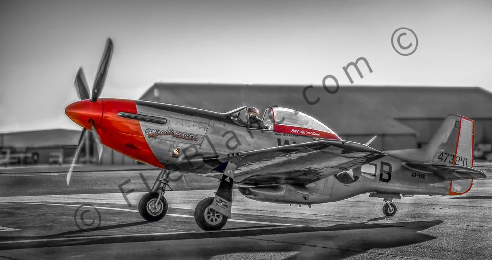 P-51 Mustang Combat Ready Military Old Vintage Aircraft fleblanc
