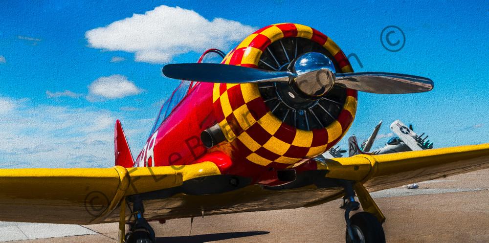 T-6/AT-6 Texan Trainer WW2 Military Old Vintage Aircraft fleblanc