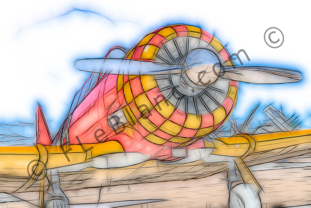 T-6/AT-6 Texan Trainer WW2 Military Restored Aircraft fleblanc