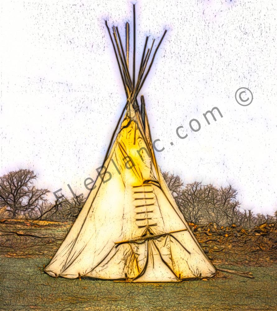 Art Photograph Native American Tipi fleblanc