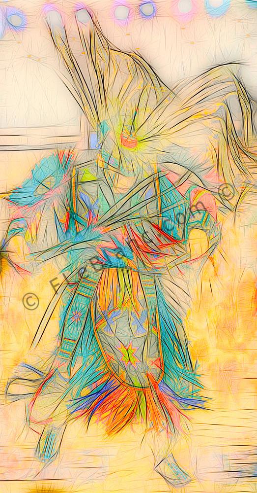Art Photograph Pow Wow Dancer v6 fleblanc