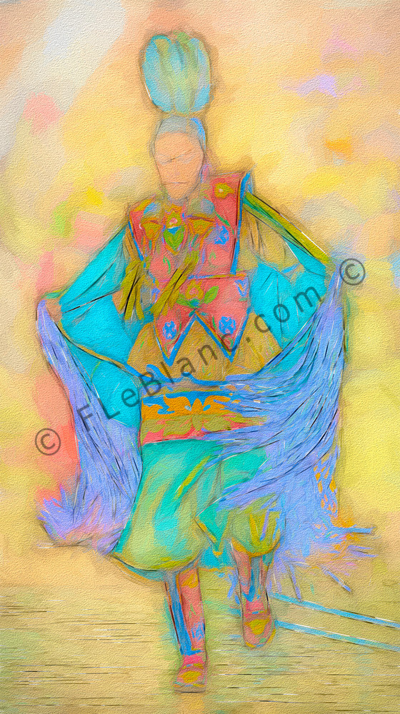 Art Photograph Pow Wow Dancer v5 fleblanc