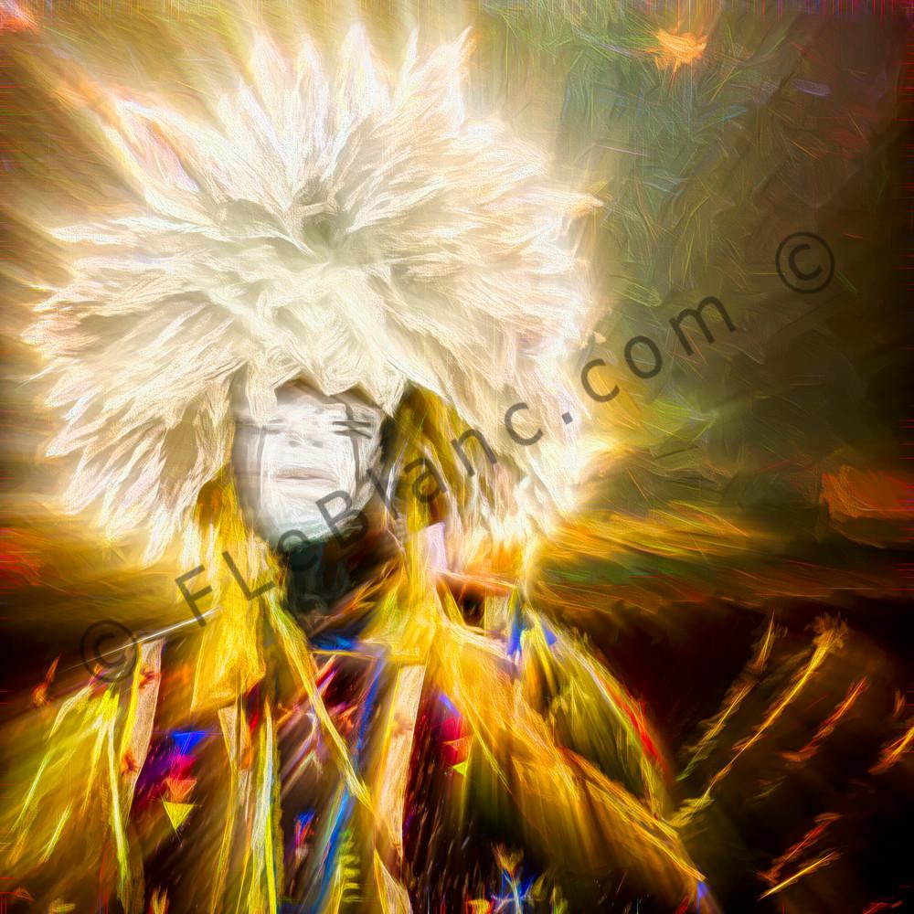 Art Photograph Pow Wow Dancer v8 fleblanc