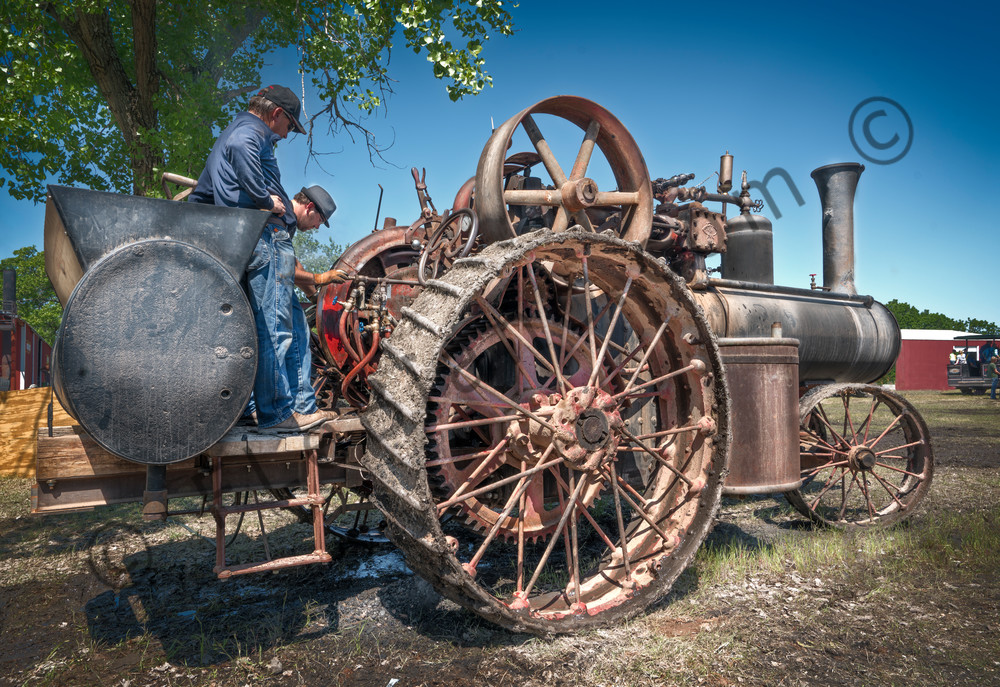 Reeves Steam Powered Restored Old Threshing Tractor fleblanc