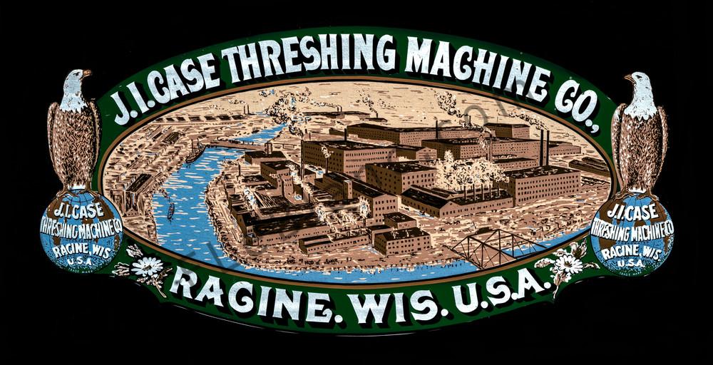JL Case Threshing Maching Vintage Farm Logo Emblem fleblanc