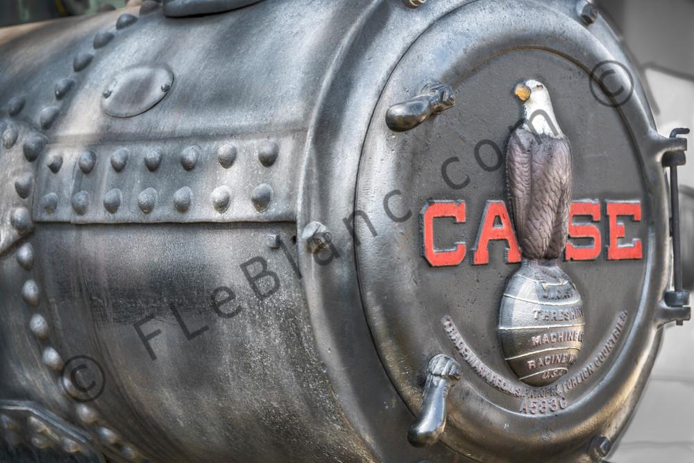 JL Case Steam Powered Tractor Emblem Closeup fleblanc