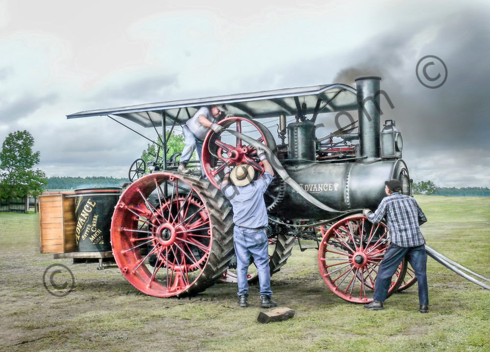 Belting An Advance Steam Powered Traction Engine Antique fleblanc