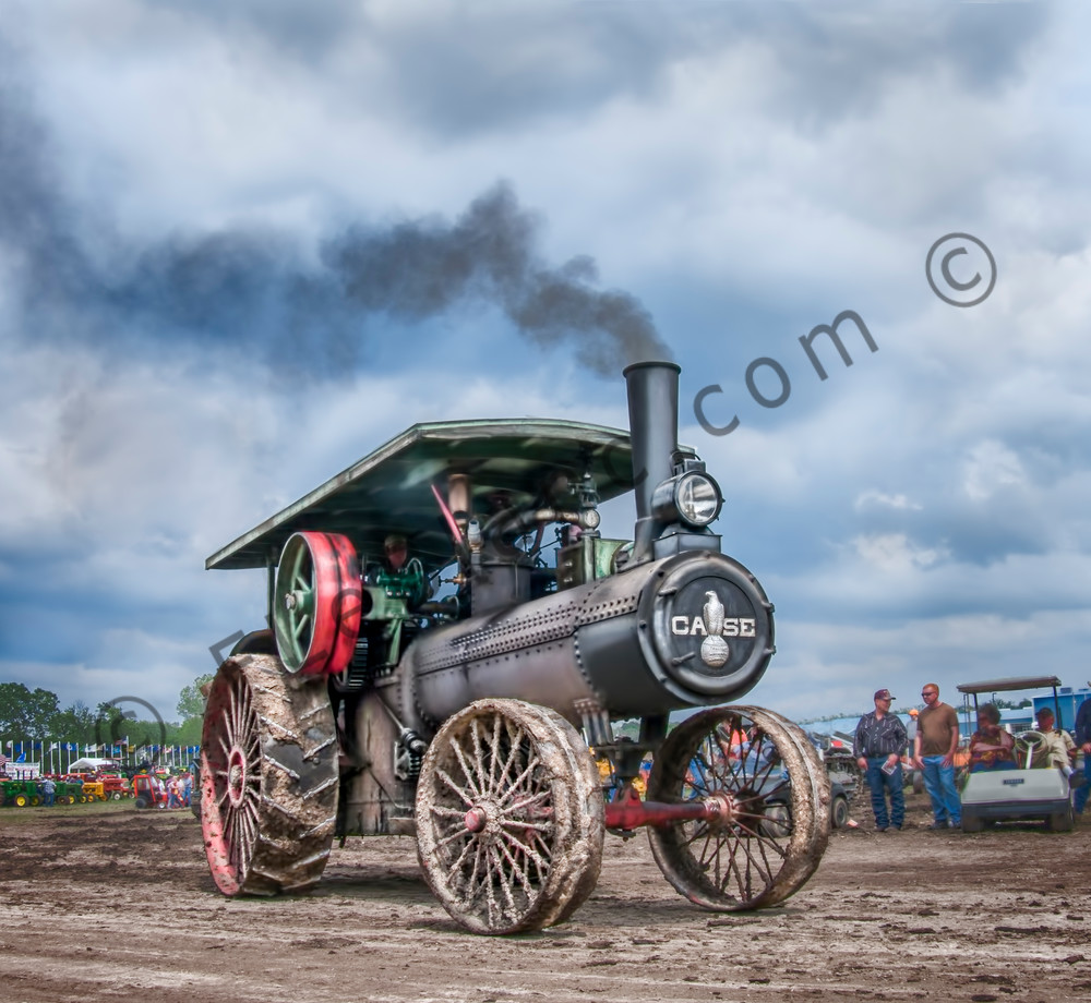 JL Case 110 HP Steam Powered Traction Engine Steamed Up fleblanc