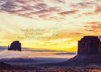 Monumental Sunrise Panoramic Art | Third Shutter from the Sun Photography