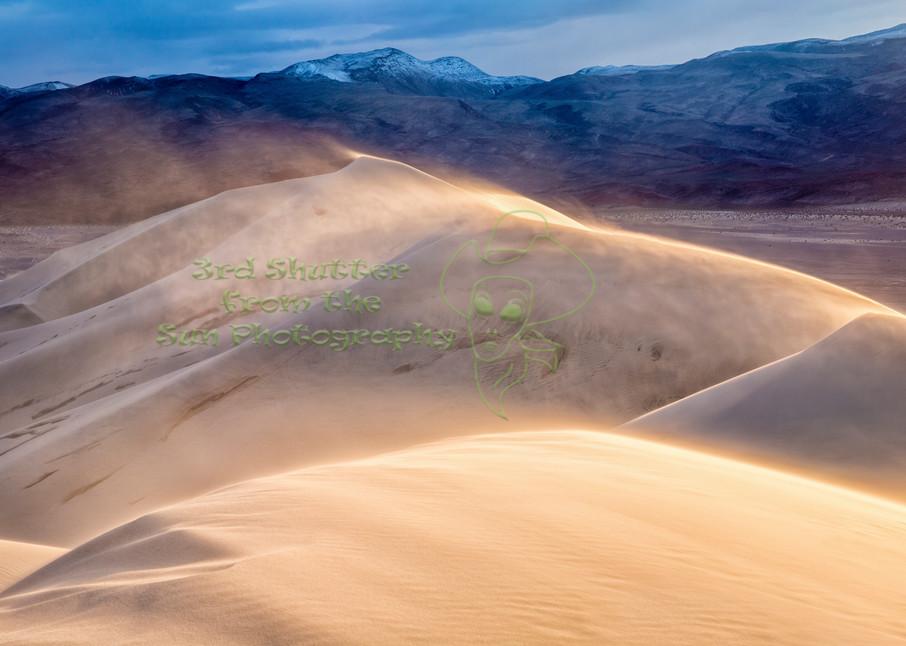 Death Valley Sand Storm Art | Third Shutter from the Sun Photography