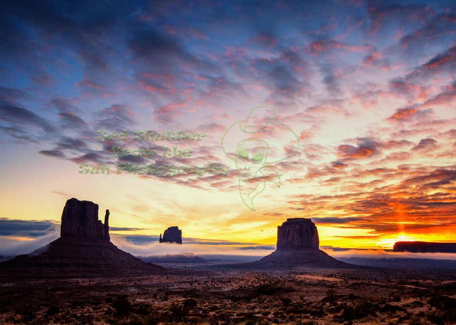 Monumental Sunrise Art | Third Shutter from the Sun Photography