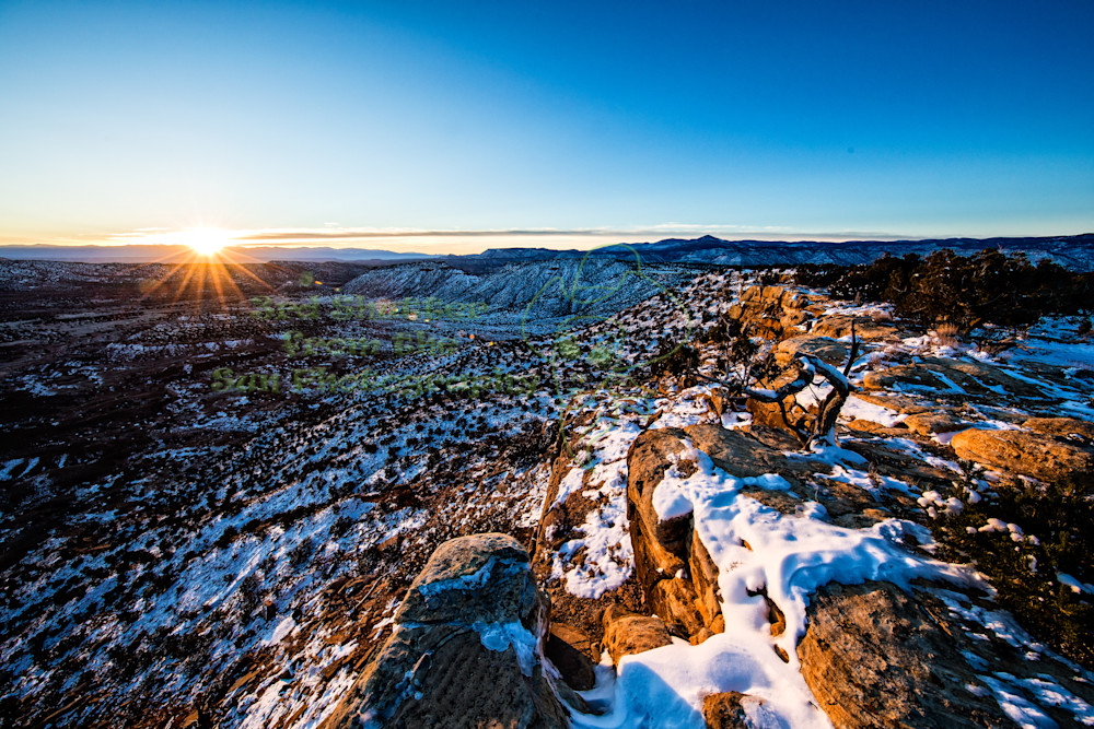 Cooper Canyon Sunrise Scenic Photography Art | Third Shutter from the Sun Photography