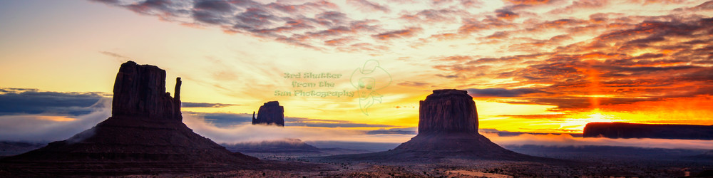 Monumental Sunrise Panoramic Photography Art | Third Shutter from the Sun Photography