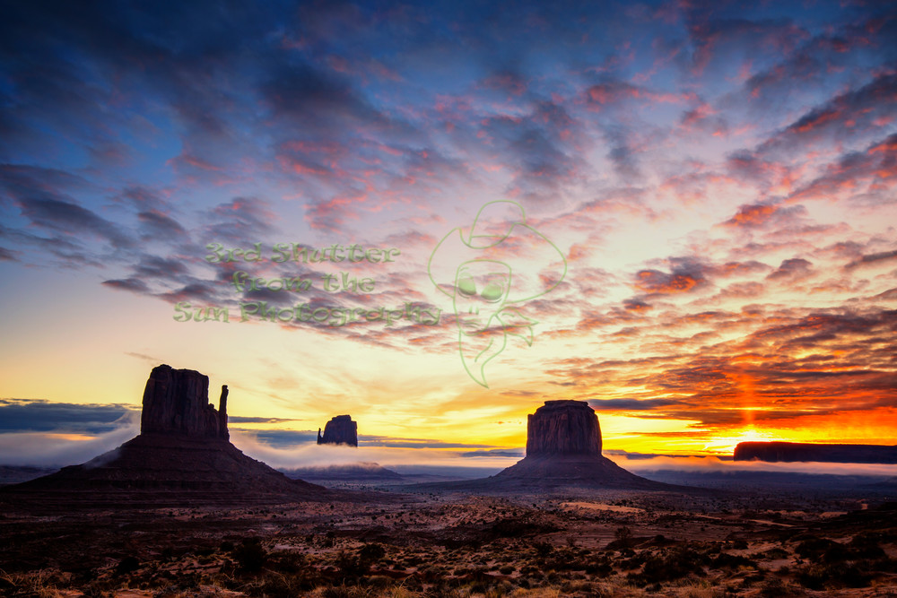 Monumental Sunrise Photography Art | Third Shutter from the Sun Photography