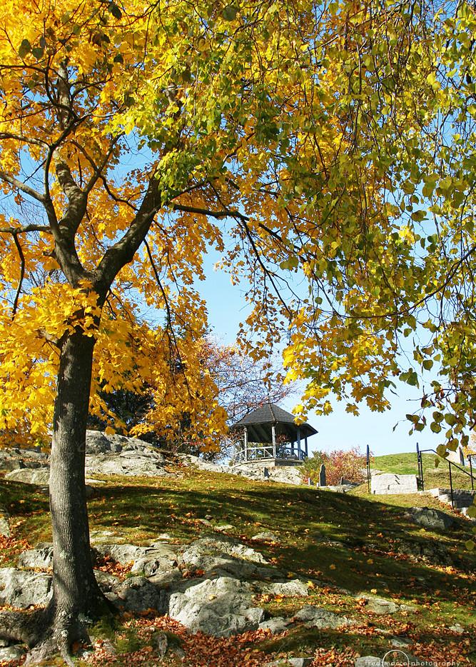 Autumn Gazebo in Marblehead, MA,